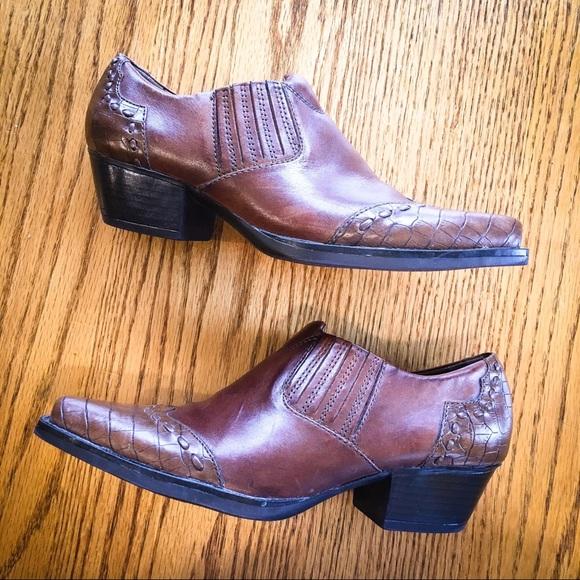 "49c65d02 Earth Spirit Shoes - NWOT Earth Spirit ""Cheyenne"" Leather Western Mules"